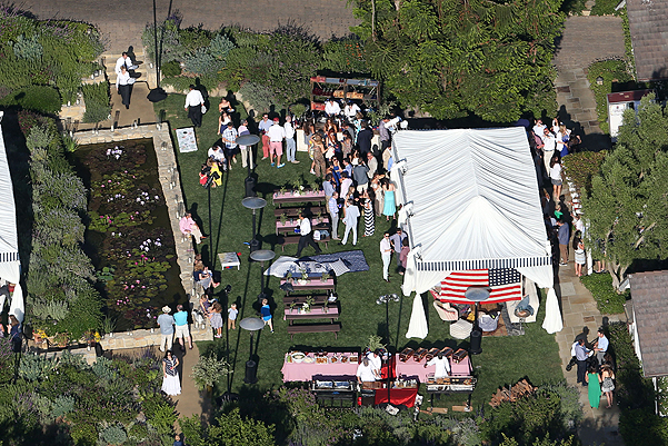 Jessica Simpson and Eric Johnson throw an Independence Day BBQ for their wedding guests