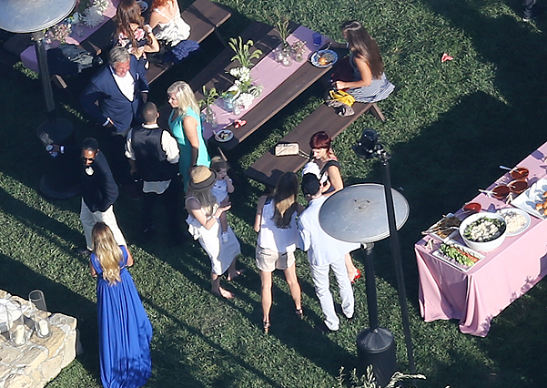 EXCLUSIVE: Jessica Simpson and Eric Johnson throw an Independence Day BBQ for their wedding guests at San Ysidro Ranch in Montecito, CA,