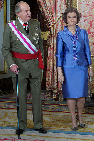 Spanish Royals Attend An Audience for the National Armed Forces Day 2014