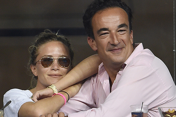 Olivier Sarkozy and Mary-Kate Olsen seen on day eight of the 2014 US Open
