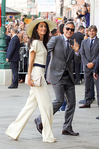 George Clooney and Amal Alamuddin's wedding at the Papadopoli Palace in Venice, Italy