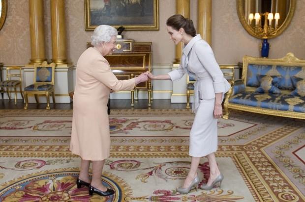 Jolie receiving DCMG