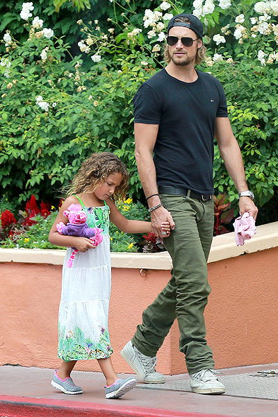 *EXCLUSIVE* Gabriel Aubry and Nahla spend some daddy and daughter time