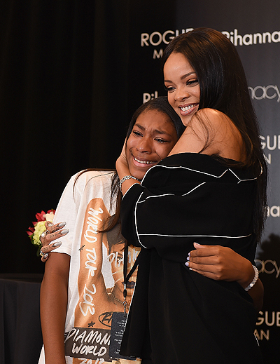 Rihanna Meets With Fans At ROGUE MAN Fragrance Launch