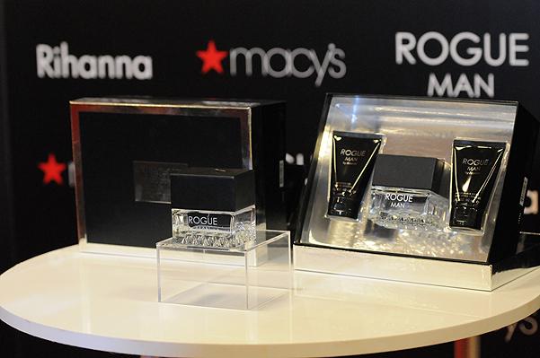 Rihanna promotes her men's fragrance at Macy's
