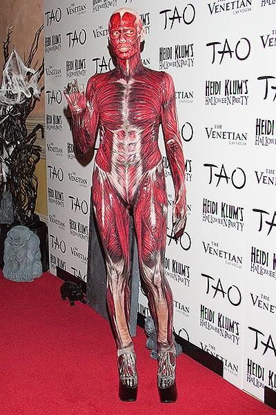 Heidi Klum's dead-body costume at TAO Las Vegas
