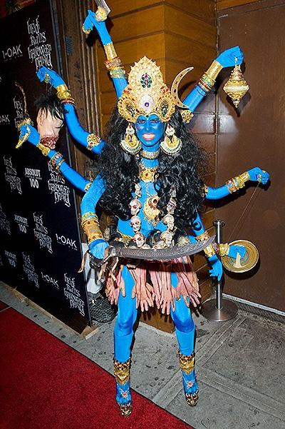 Heidi Klum and Pink at Heidi Klum's Halloween Party at 1 Oak, NYC