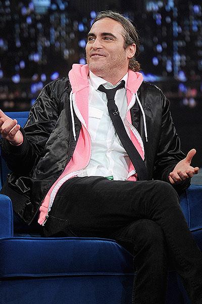 "Joaquin Phoenix Visits ""Late Night With Jimmy Fallon"""