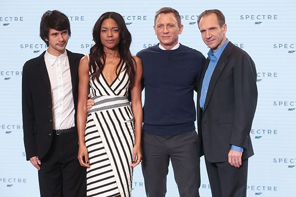 Photocall for the 24th James Bond movie at Pinewood Studios