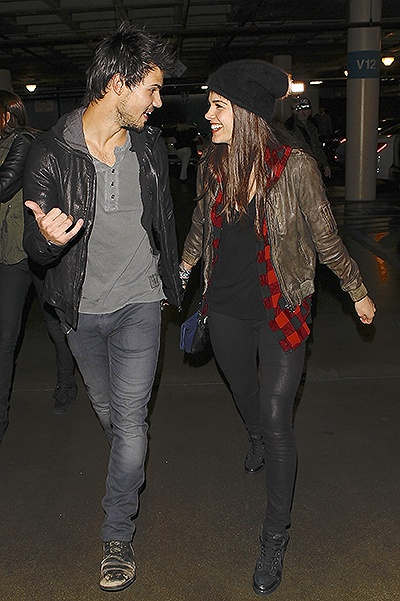 Taylor Lautner and Marie Avgeropoulos arriving for the Jay Z concert at Staple Center Featuring: Taylor Lautner, Marie Avgeropoulos Where: Los Angeles, California, United States When: 09 Dec 2013 Credit: WENN.com