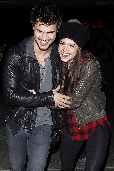 Taylor Lautner and his girlfriend Marie Avgeropoulos: Date night at the Jay Z Concert