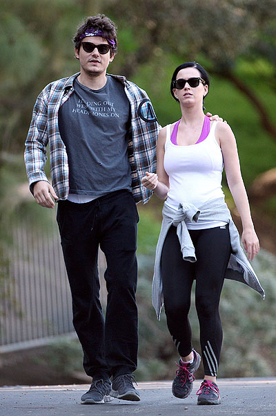 """EXCLUSIVE: John Mayer and Katy Perry hike with """"Girls"""" actress Alison Williams and her boyfriend Ricky Van Veen in L.A"""