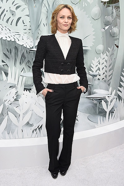 Chanel : Front Row - Paris Fashion Week - Haute Couture S/S 2015