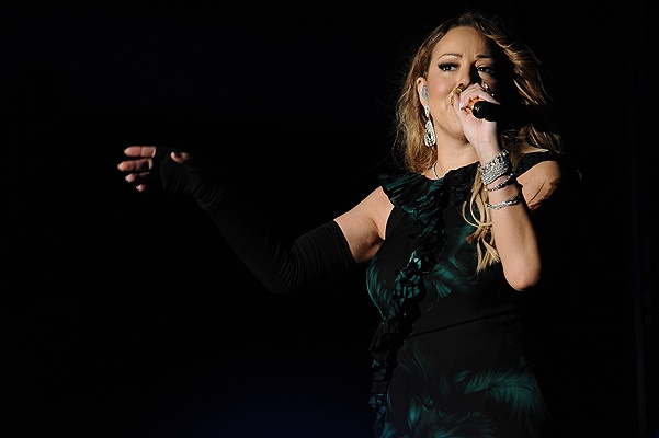 Mariah Carey goes through several designer outfit costume changes as she performs for the first time in Jamaica at the 2015 Jamaica Jazz and Blues Festival at Greenfield Stadium in Falmouth, Trelawny, Jamaica