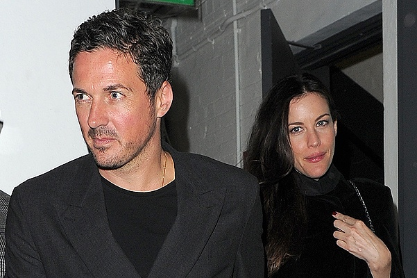 Nick Grimshaw celebrates his birthday with friends at Shoreditch House Featuring: Dave Gardner,Liv Tyler Where: London, United Kingdom When: 15 Aug 2014 Credit: WENN.com