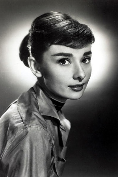 "Stage and Screen. Personalities. pic: circa 1950's. Actress Audrey Hepburn, portrait. Audrey Hepburn, (1929-1993) born in Brussels, a truly international star from a cosmopolitan background, starred in many films, eg. ""My Fair Lady"" and ""Breakfast at Tiff"