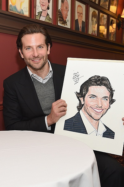 Bradley Cooper Sardi's Caricature Unveiling
