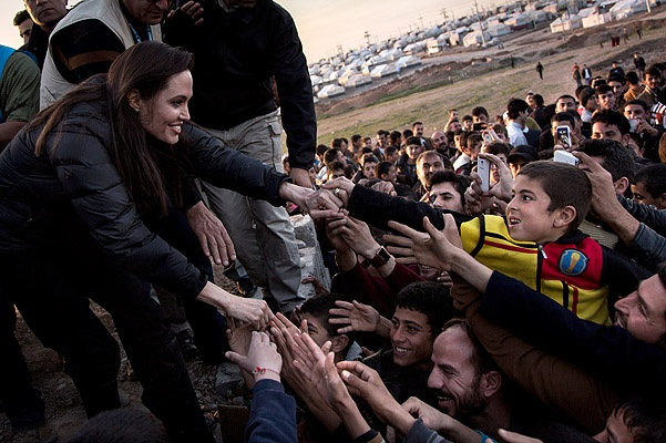 UNHCR Special Envoy Angelina Jolie Meets Syrian Refugees And Displaced Iraqi Citizens In Iraq