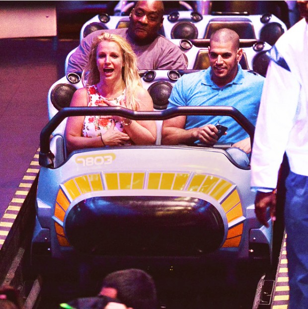 EXCLUSIVE: Britney Spears Spends the Fourth of July Holiday enjoying the rides at Disneyland with her two sons in Anaheim, CA