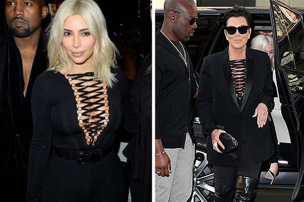 PARIS, FRANCE - MARCH 08:  (L-R) Kanye West, Kim Kardashian and Katy Perry attend the Givenchy show as part of the Paris Fashion Week Womenswear Fall/Winter 2015/2016 on March 8, 2015 in Paris, France.  (Photo by Pascal Le Segretain/Getty Images)