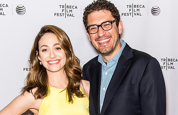 NEW YORK, NY - APRIL 26:  Actress Emmy Rossum and Mr. Robot Creator/EP/writer Sam Esmail attend Tribeca Talks: 'Mr. Robot' during the 2015 Tribeca Film Festival at Chelsea Bow Tie Cinemas on April 26, 2015 in New York City.  (Photo by Gilbert Carrasquillo/FilmMagic)