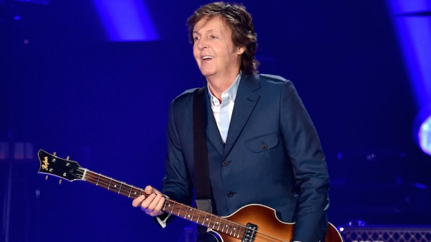 Musician Paul McCartney performs at PETCO park on September 28, 2014 in San Diego, California.