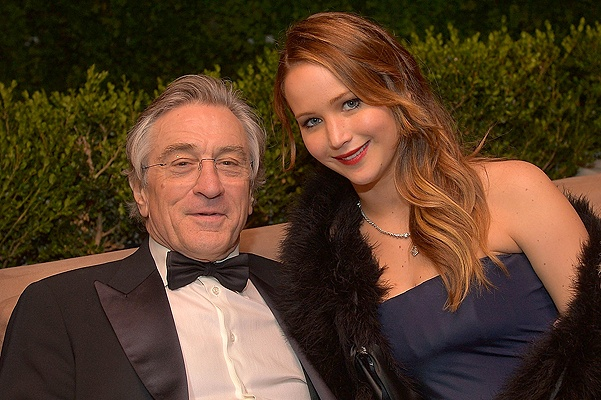 WEST HOLLYWOOD, CA - JANUARY 27:  Actor Robert De Niro (L) and actress Jennifer Lawrence attend The Weinstein Company's SAG Awards After Party Presented By FIJI Water at Sunset Tower on January 27, 2013 in West Hollywood, California.  (Photo by Charley Gallay/Getty Images for TWC)
