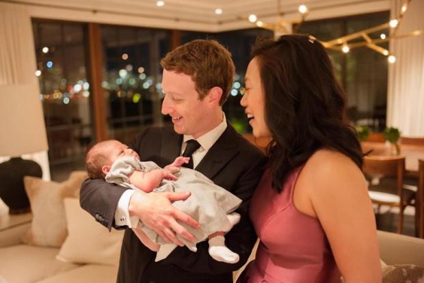 Марк Цукерберг поделился новогодним семейным фото