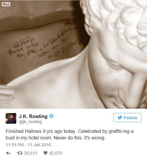 """Номер, где Джоан Роулинг завершила """"Дары смерти"""", сдается за тысячу фунтов за ночь"""
