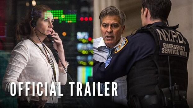 Джордж Клуни и Джулия Робертс попадают в заложники в первом трейлере «Финансового монстра»