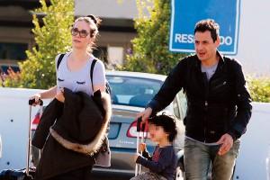 Наталья Орейро с мужем и сыном