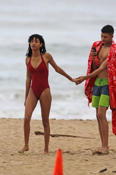 EXCLUSIVE: A bikini clad Willow Smith gets romantic with her boyfriend on the beach in Hawaii.