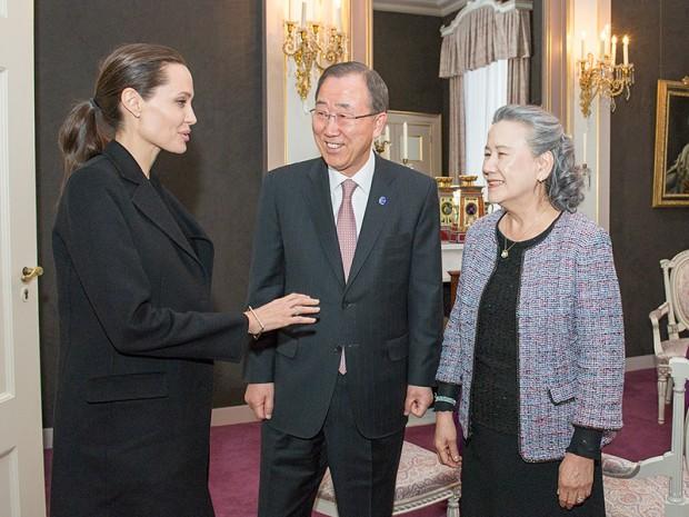 Angelina Jolie, Ban Ki-moon et sa femme en rÈunion ‡ La Haye