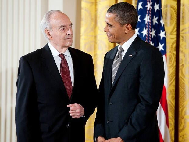 Харрис с Бараком Обамой