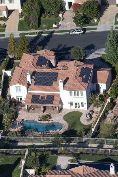 Aerial views of property Kylie Jenner has reportedly purchased in Calabasas, California.