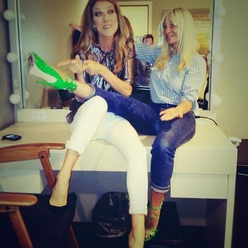 Celine-Dion-Sia-Furler-goofed-around-backstage