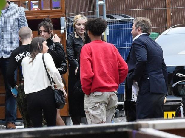 EXCLUSIVE Madonna takes Rocco and Lourdes to London Wonderground