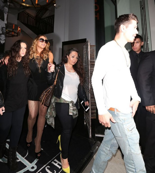 Mariah Carey and her backup dancer Bryan Tanaka leave Catch restaurant together in West Hollywood