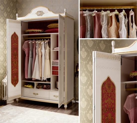 Шкаф для девочки в восточном стиле