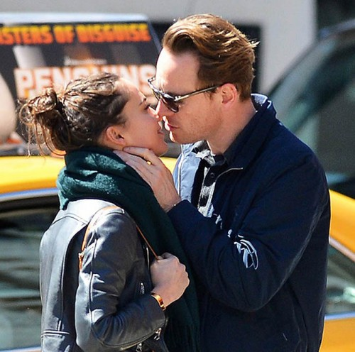 135129, EXCLUSIVE: Michael Fassbender out with girlfriend Alicia Vikander in Soho, NYC. New York, New York - Saturday April 4, 2015. Photograph: © PacificCoastNews. Los Angeles Office: +1 310.822.0419 sales@pacificcoastnews.com FEE MUST BE AGREED PRIOR TO USAGE