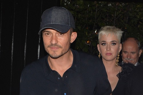 Katy Perry and Orlando Bloom seen leaving chiltern firehouse