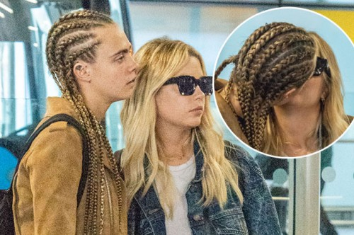 EXCLUSIVE: * EMBARGOED - Strictly No Web / Online permitted Before 4.30am BST Aug 15th * Cara Delevingne and New Girlfriend Ashley Benson Spotted At Heathrow Airport