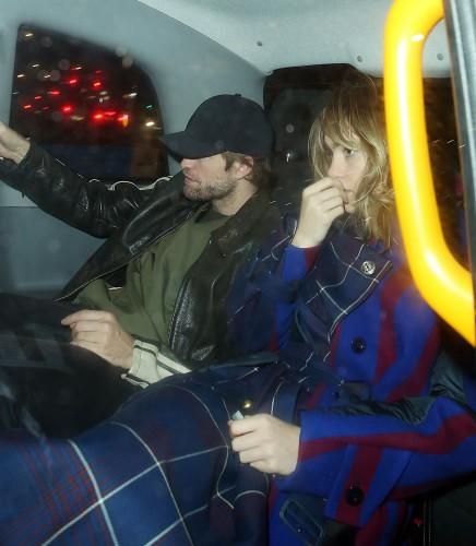 Robert Pattinson and Suki Waterhouse enjoy date night at the Chiltern Firehouse in London