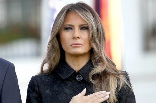 President Trump And Melania Trump Lead Moment Of Silence For 9/11 Victims