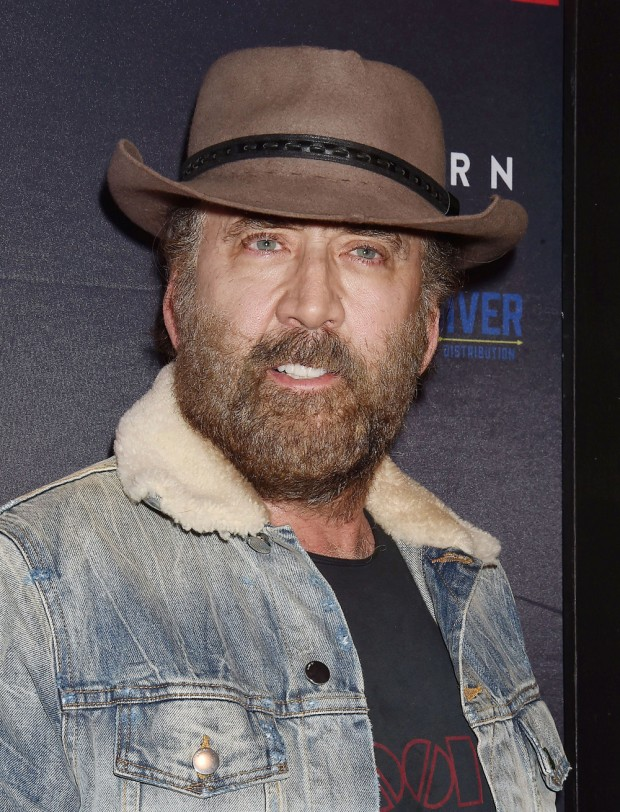 Mandatory Credit: Photo by Broadimage/Shutterstock (10416727e) Nicolas Cage 'Running with the Devil' film premiere, Arrivals, Los Angeles, USA - 16 Sep 2019