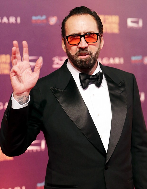 Mandatory Credit: Photo by Khaled Elfiqi/EPA-EFE/REX/Shutterstock (9252864i) Nicolas Cage Closing Ceremony - 39th Cairo Film Festival, Egypt - 30 Nov 2017 US actor Nicolas Cage arrives on the red carpet to attend the closing ceremony of the 39th Cairo International Film Festival (CIFF), in Cairo, Egypt, 30 November 2017.