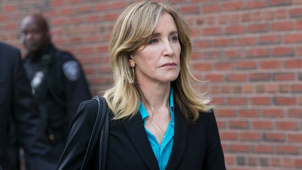 QUALITY REPEAT Mandatory Credit: Photo by KATHERINE TAYLOR/EPA-EFE/REX/Shutterstock (10186033l) US actress Felicity Huffman leaves the John J Moakley Federal Court House after facing charges in a nationwide college admissions cheating scheme in Boston, Massachusetts, USA 03 April 2019. Felicity Huffman facing charges in a nationwide college admissions cheating scheme, Boston, USA - 03 Apr 2019