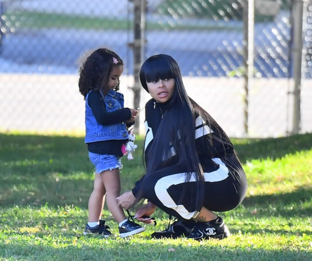 EXCLUSIVE: Blac Chyna takes her daughter Dream Kardashian to support her little brother King at his soccer game in Woodland Hills. Blac was seen arriving and spending time with a mystery man as she stood on the sidelines with the other parents. Dream Kardashian was seen having a great time running around and at one point she had a phone on her hand and she typed 911 on the calculator key pad. **SPECIAL INSTRUCTIONS*** Please pixelate children's faces before publication.**. 06 Oct 2019 Pictured: Blac Chyna, Dream Kardashian, King Stevenson. Photo credit: Marksman / MEGA TheMegaAgency.com +1 888 505 6342 (Mega Agency TagID: MEGA522163_001.jpg) [Photo via Mega Agency]