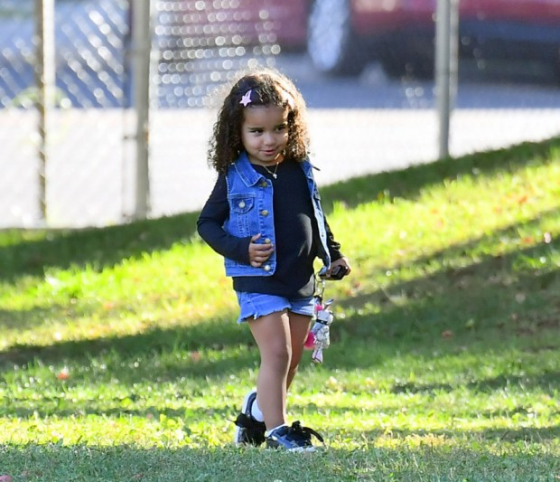 EXCLUSIVE: Blac Chyna takes her daughter Dream Kardashian to support her little brother King at his soccer game in Woodland Hills. Blac was seen arriving and spending time with a mystery man as she stood on the sidelines with the other parents. Dream Kardashian was seen having a great time running around and at one point she had a phone on her hand and she typed 911 on the calculator key pad. **SPECIAL INSTRUCTIONS*** Please pixelate children's faces before publication.**. 06 Oct 2019 Pictured: Blac Chyna, Dream Kardashian, King Stevenson. Photo credit: Marksman / MEGA TheMegaAgency.com +1 888 505 6342 (Mega Agency TagID: MEGA522163_015.jpg) [Photo via Mega Agency]
