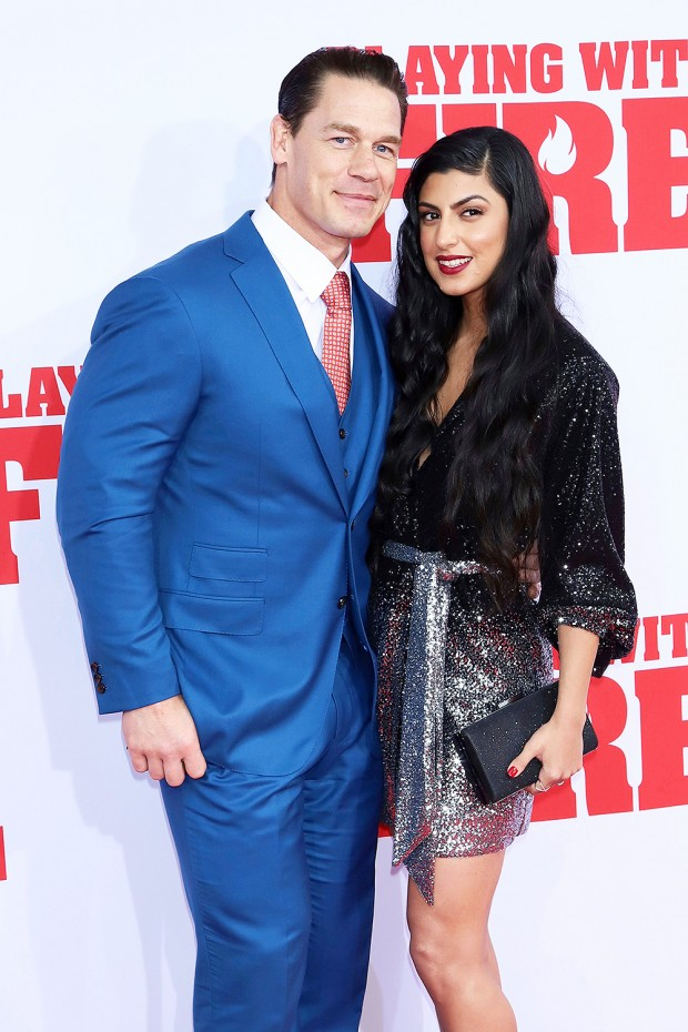 "Mandatory Credit: Photo by Greg Allen/Invision/AP/Shutterstock (10457294y) John Cena, Shay Shariatzadeh. John Cena, left, and Shay Shariatzadeh attend the premiere of Paramount Pictures' ""Playing With Fire"" at the AMC Lincoln Square on Saturday, Oct. 26, in New York NY Premiere of ""Playing With Fire"", New York, USA - 26 Oct 2019"